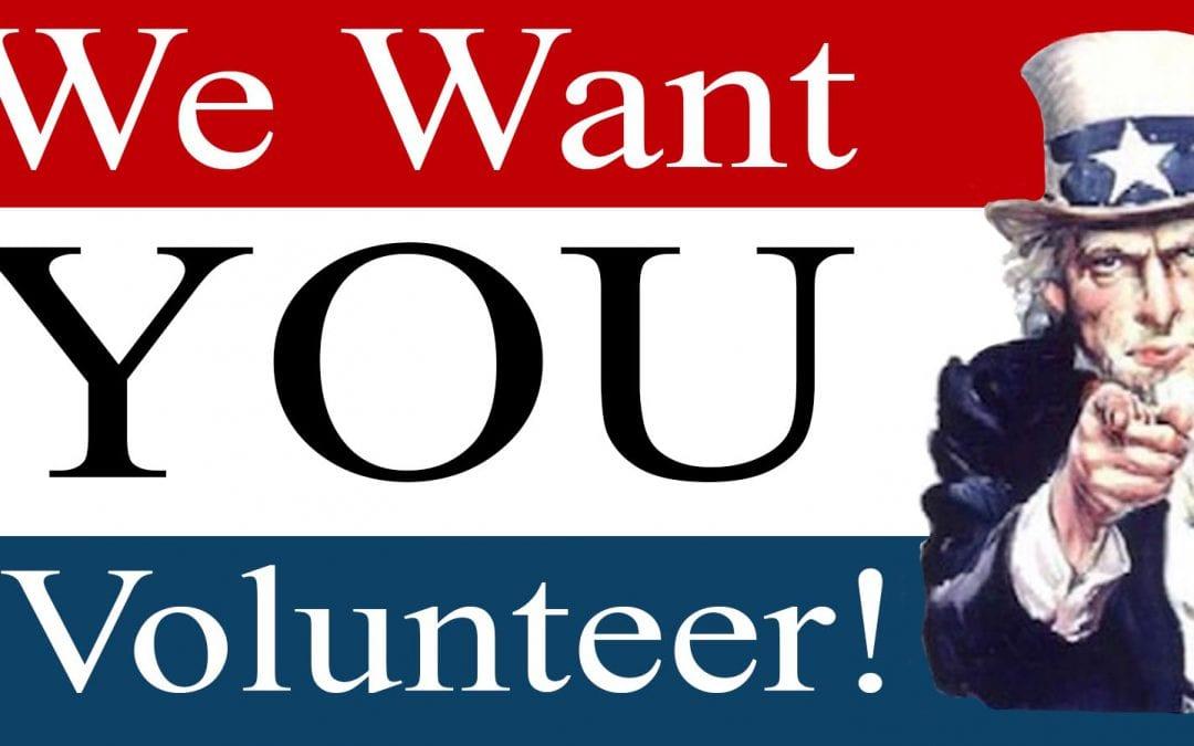 Calling all Volunteers!